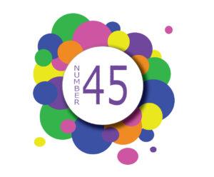 Number 45 logo